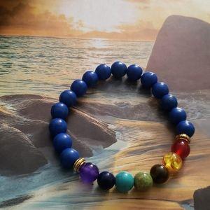 Jewelry - 🧘♂️ NWT 7 Chakra Healing Balance Blue bracelet